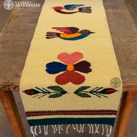 camino de mesa de lana